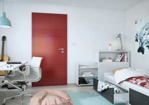 Lakované dveře RAINBOW vpovrchové úpravě lak čínská červená