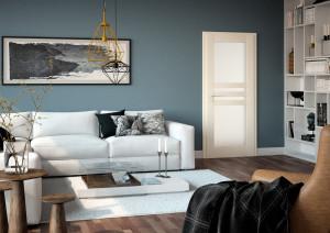 Interiérové dveře VERTIGO vpovrchové úpravě SOLO 3D, cremeline
