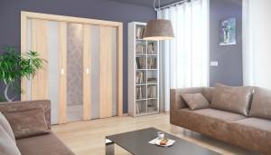 Prosklené posuvní dveře k podlaze
