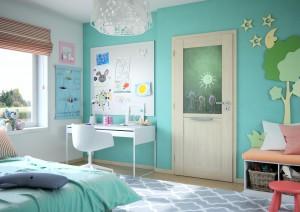 Dveře v dětské pokoji