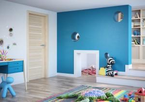 3D dekor dveří v interiéru